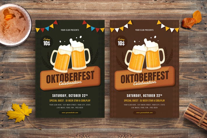 Cover Image For Oktoberfest Party Flyer