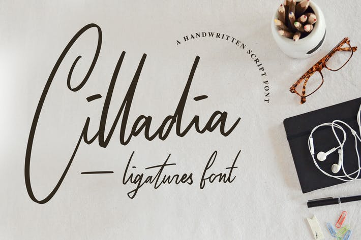 Thumbnail for Cilladia - Ligatures Font