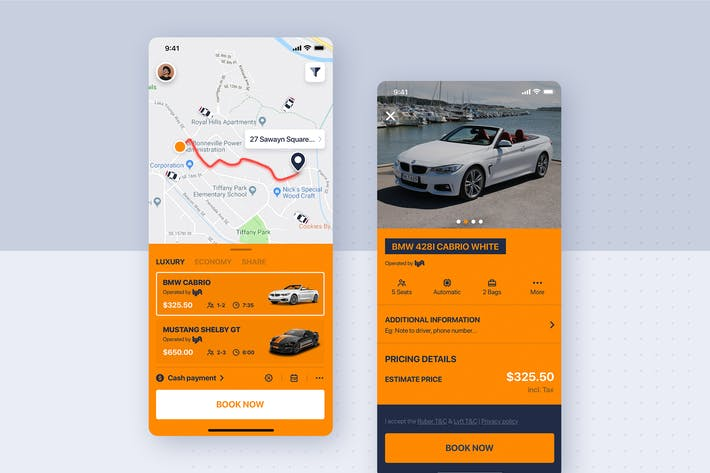 Thumbnail for Car rental mobile UI Kit - Car Details