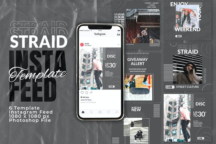 Thumbnail for Straid Instagram Feed Template