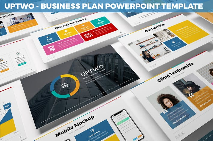 Thumbnail for UpTwo - Business Plan Powerpoint Template