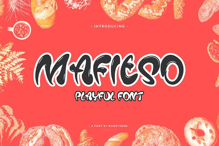 Thumbnail for Mafieso - Playful Font YR