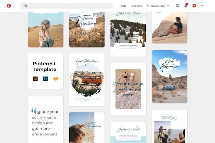 Thumbnail for Блоггинг путешествий PinterestBrush