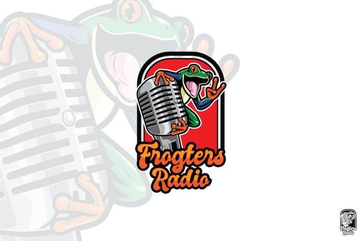 Thumbnail for Frog Radio Mascot Logo