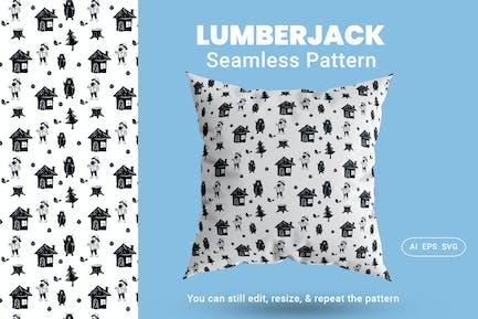 Seamless Pattern Lumberjack