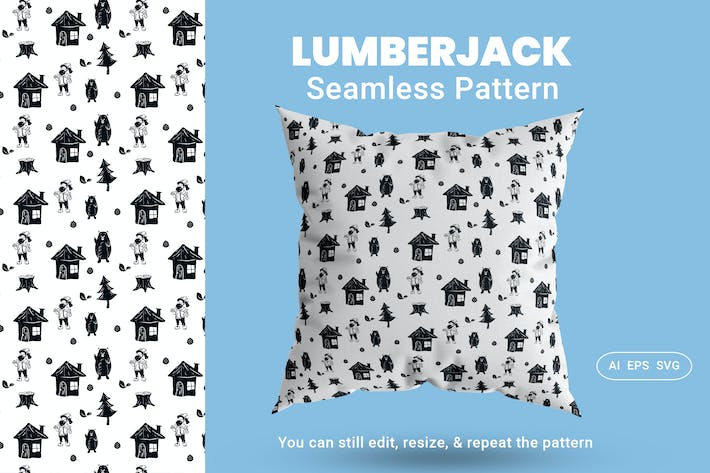 Thumbnail for Seamless Pattern Lumberjack
