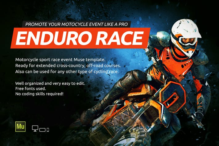 Thumbnail for Enduro - Extreme Motorcycle Race Event Website