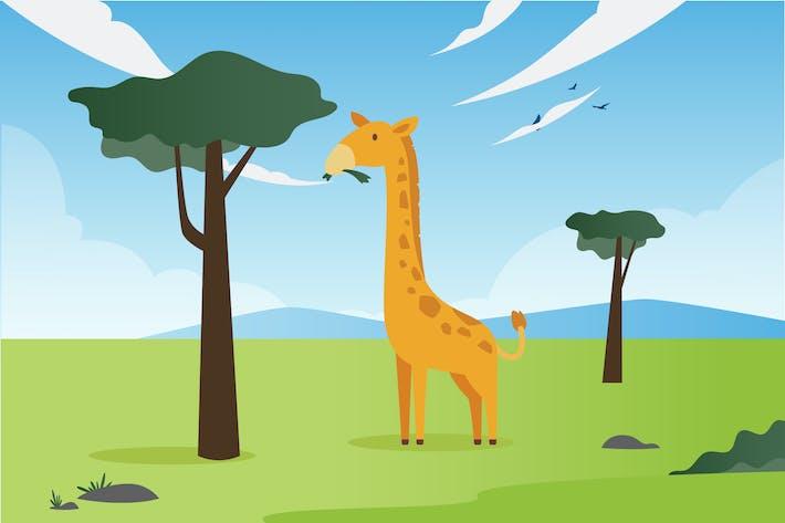 Thumbnail for Giraffe Illustration