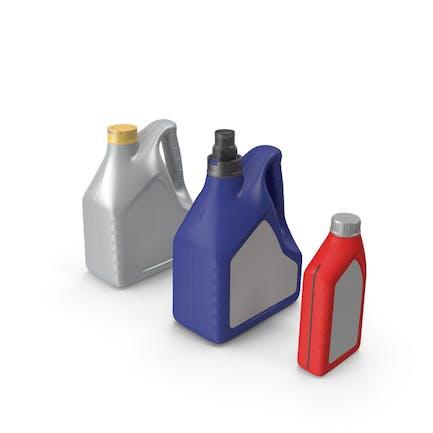 Motor Oil Bottles Set Generic