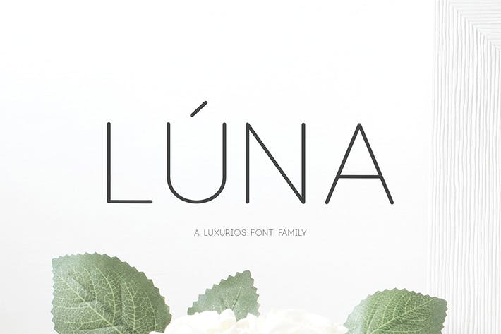 Thumbnail for Lúna - A Luxurios Font Family
