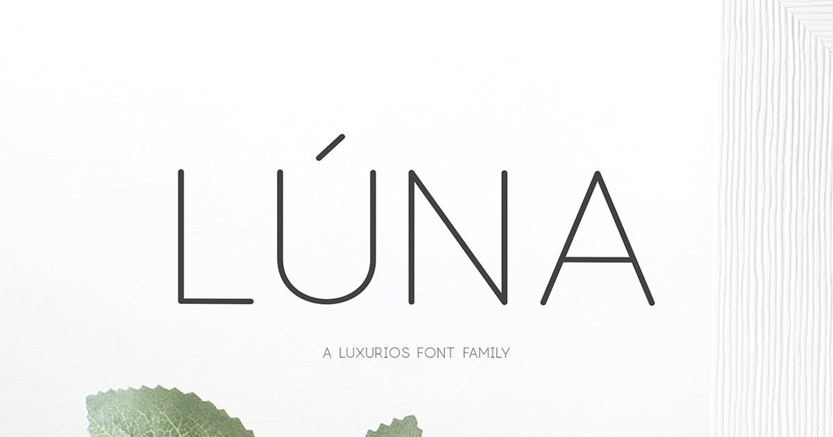 Download Lúna - A Luxurios Font Family by sameehmedia