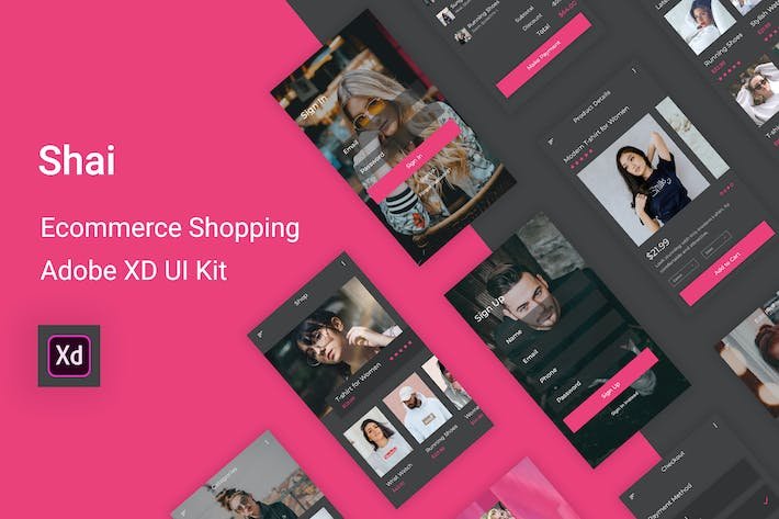 Thumbnail for Shai - Ecommerce Shopping UI Kit for Adobe XD