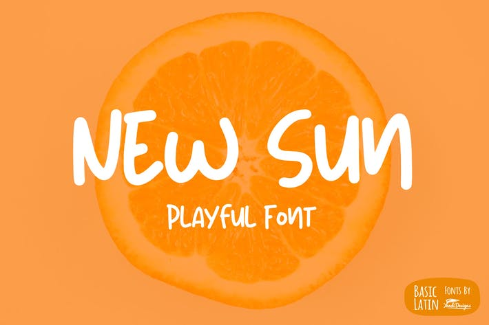 Thumbnail for New Sun Playful Font