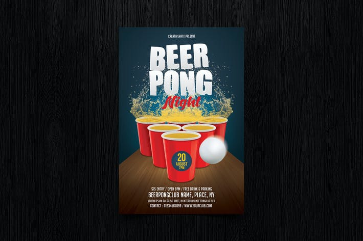 Beer Pong / Beer Party Flyer
