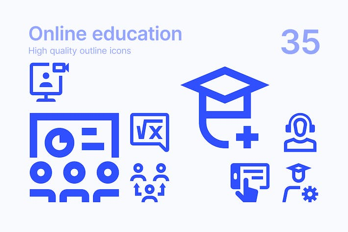 Thumbnail for Online Education Icons