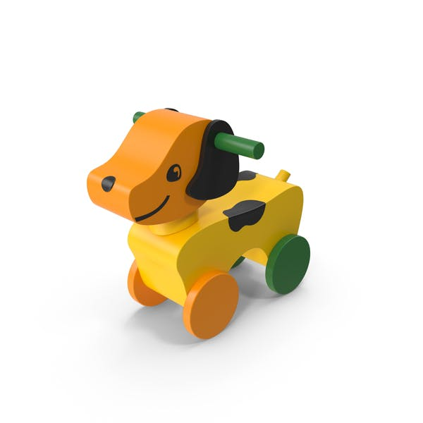 Cover Image for Wooden Dog Riding Toy
