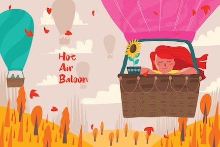 Heißluftbaloon - Vektor illustration