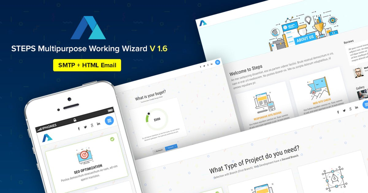 Download Steps - Multipurpose Working Wizard with Branches by Ansonika