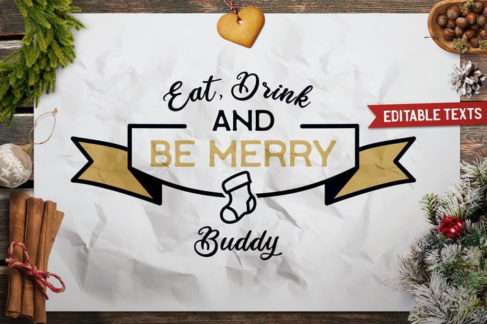 Thumbnail for Merry Christmas T-Shirt. Vector Print, Holiday SVG