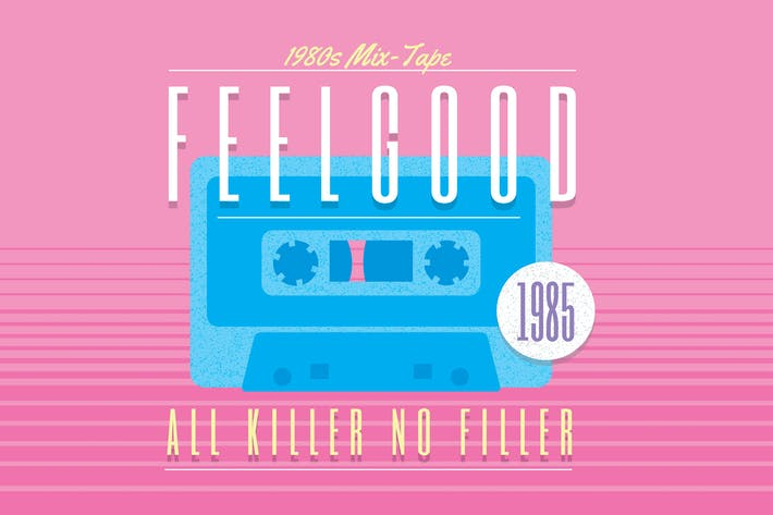 1980s Retro Logo - Feelgood Mix Tape