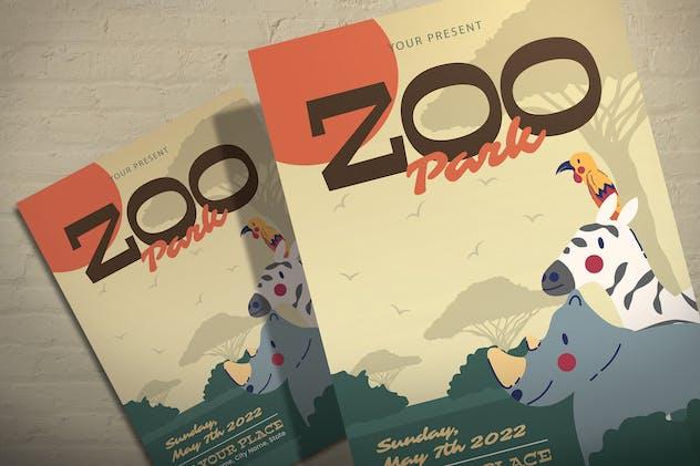 Zoo Park - Illustration Flyer Template