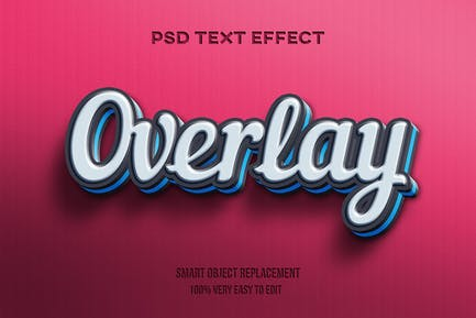 Overlay text effect