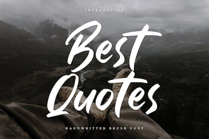 Best Quotes-Handwritten Font