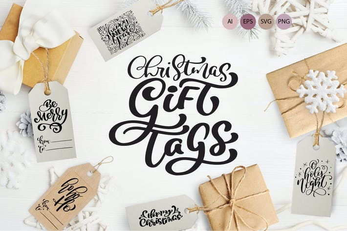 Cover Image For Christmas Gift Tags