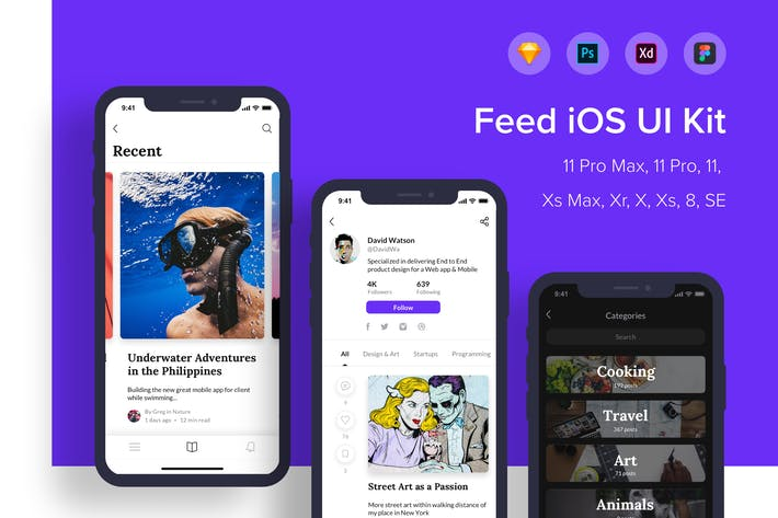 Thumbnail for Лента iOS UI Kit
