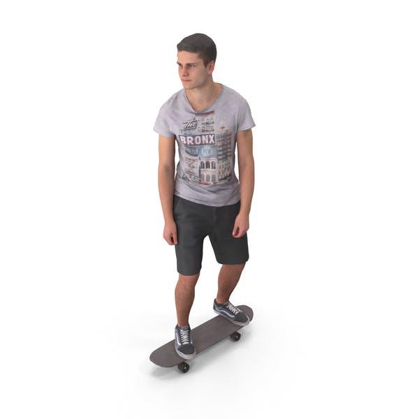 Skateboarder Teenager Posed
