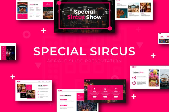 Thumbnail for Special Sircus - Google Slide Template