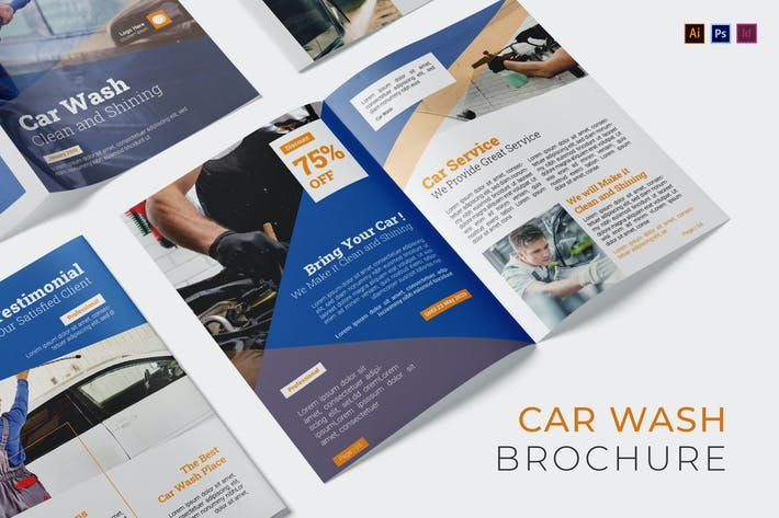 Car Wash Company Brochure