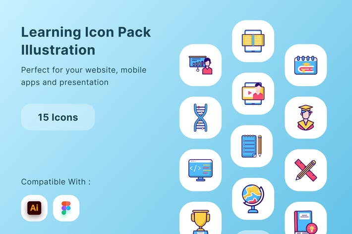 Learning Icon Pack Illustration