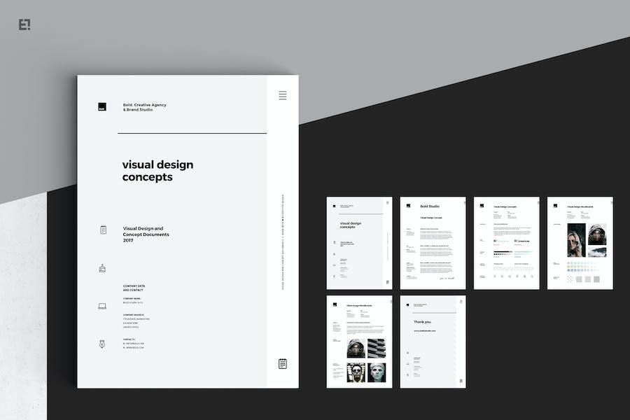 Concept Design Mood Board Vorlagen