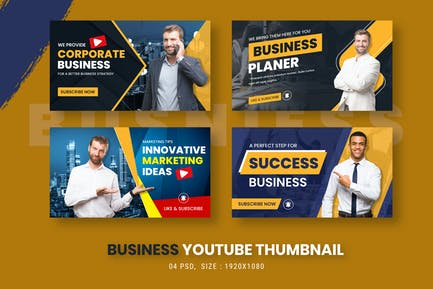 Business Marketing Youtube Thumbnail Template