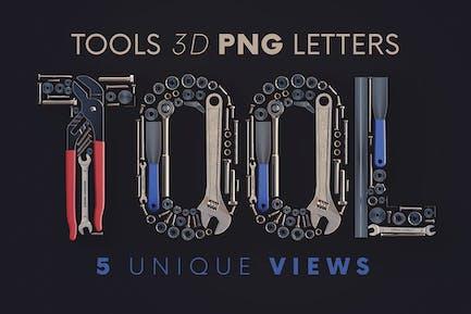 Werkzeuge - 3D-Beschriftung
