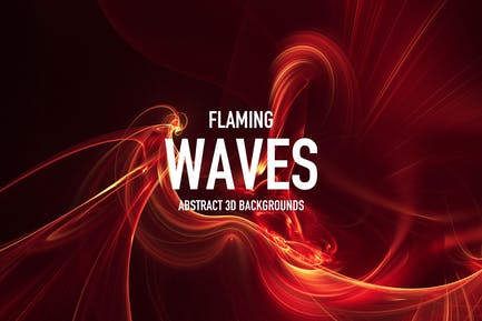 Flaming Waves Backgrounds