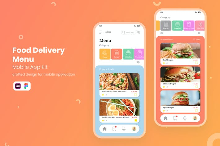 Thumbnail for UI Restaurant Delivery Menu Mobile KIT