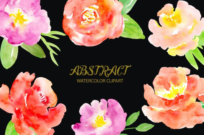 Thumbnail for Watercolor Clipart Abstract