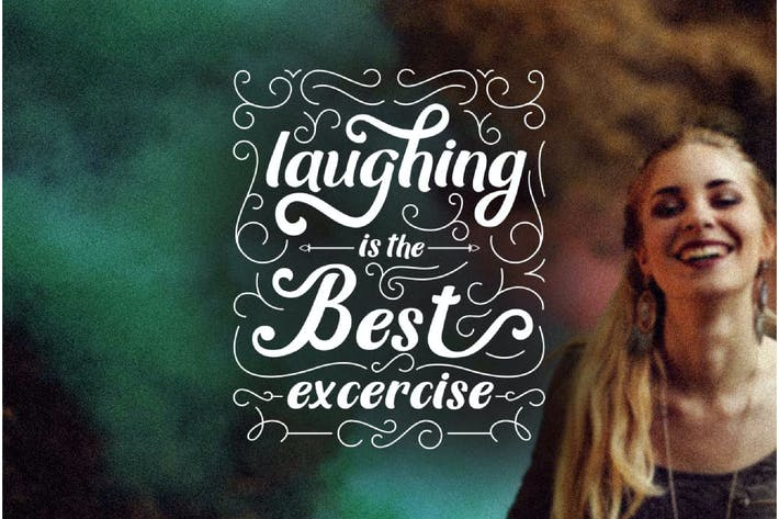 Thumbnail for Laughing is the best excercise - Quote