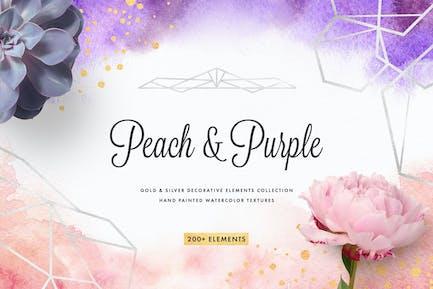 Colleción Decor Peach & Purple