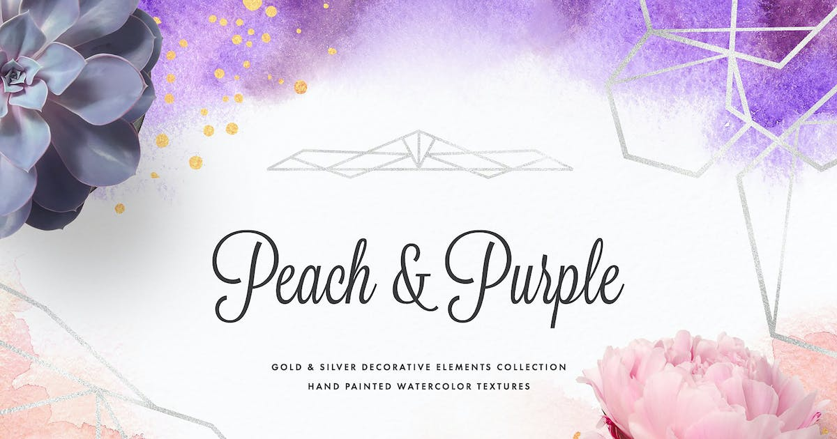 Download Peach & Purple Decor Collection by pixelbuddha_graphic