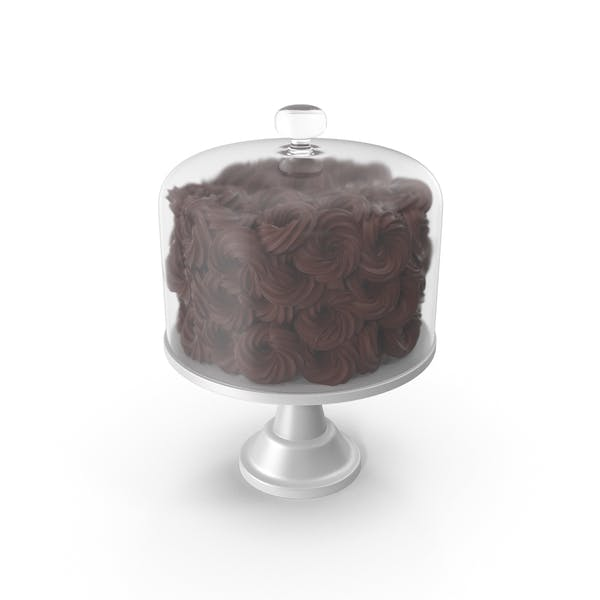 Thumbnail for Chocolate Flower Cake With Glass Dome