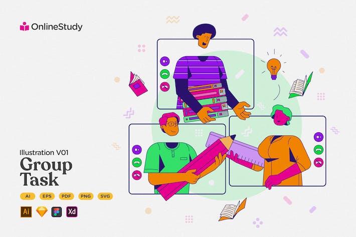 Lernen - Online-Gruppenaufgabe