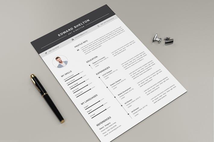 Thumbnail for Curriculum vitae et lettre Docx Office