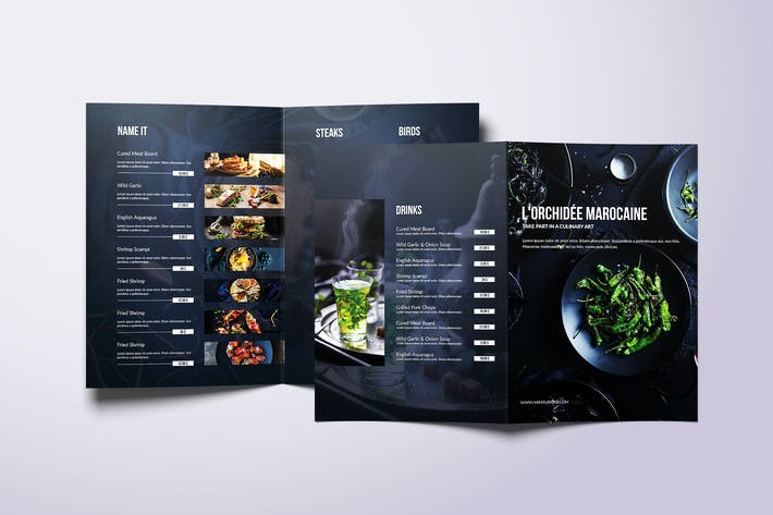 Thumbnail for Fresh Minimal Bifold A4 & US Letter Food Menu