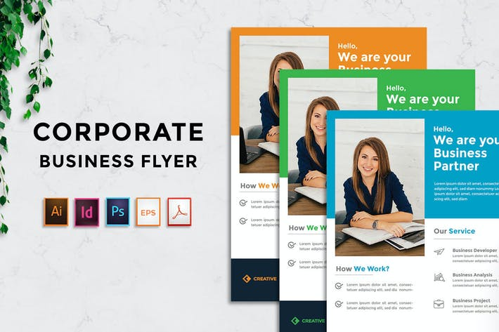 Cover Image For Rantautemp - Business Corporate Flyer vol 3
