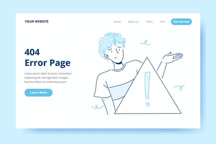 404 Error Page - Illustration