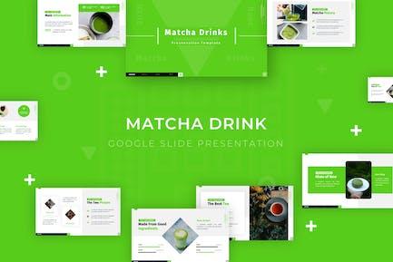 Матча Напитки - Google Slide Шаблон