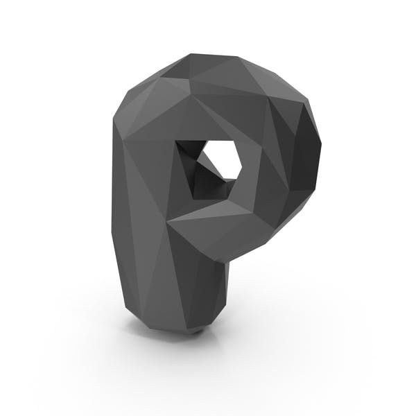 Thumbnail for Low Poly Bubble Letter P
